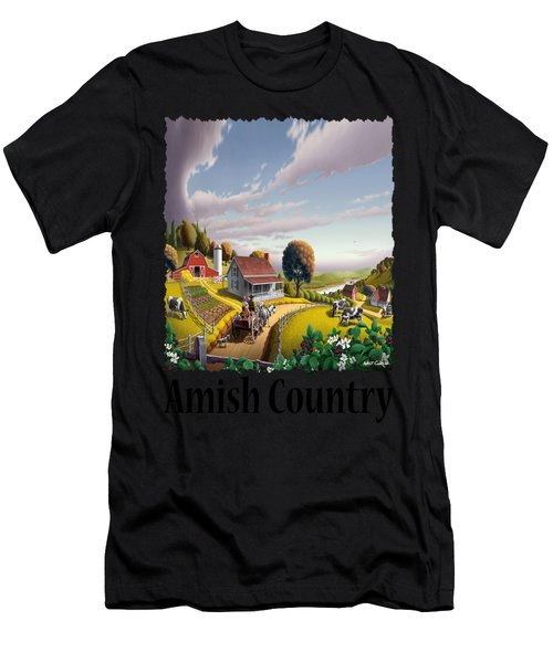 Amish Country - Appalachian Blackberry Patch Country Farm Landscape 2 Men's T-Shirt (Athletic Fit)