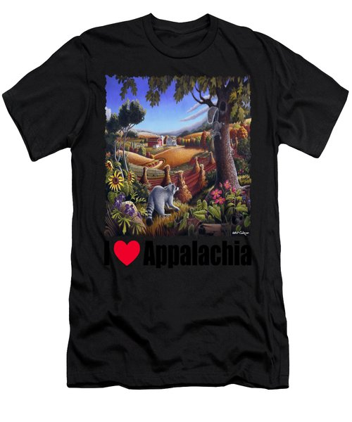 Amish Country - Coon Gap Holler Country Farm Landscape Men's T-Shirt (Athletic Fit)