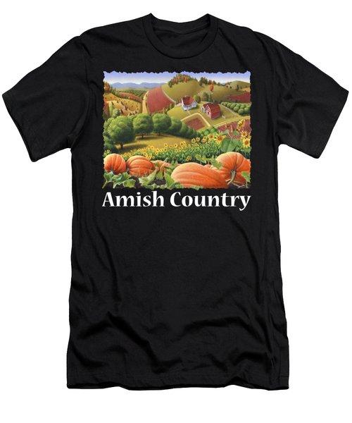 Amish Country T Shirt - Appalachian Pumpkin Patch Country Farm Landscape 2 Men's T-Shirt (Athletic Fit)