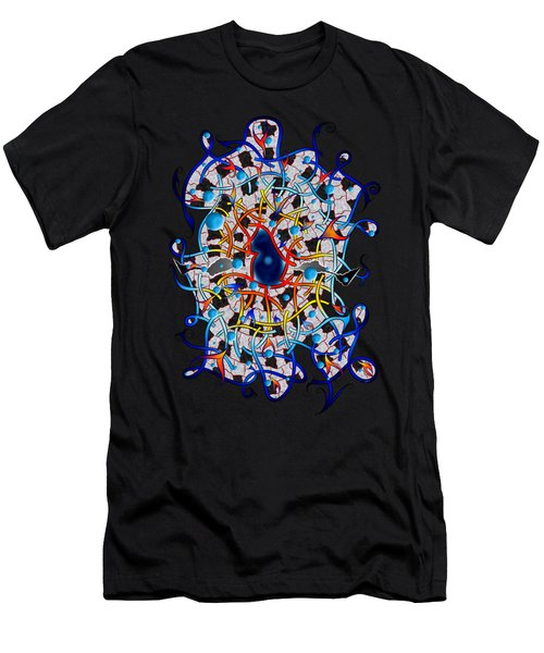 Amistedos V2 - Digital Art Men's T-Shirt (Athletic Fit)