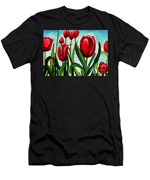 Among The Tulips Men's T-Shirt (Athletic Fit)