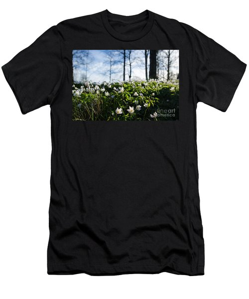 Men's T-Shirt (Slim Fit) featuring the photograph Among Windflowers On The Ground by Kennerth and Birgitta Kullman