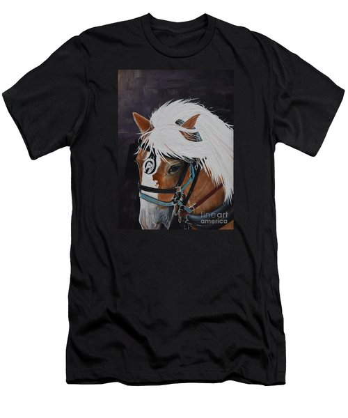 Amos - Haflinger - Horse Men's T-Shirt (Athletic Fit)