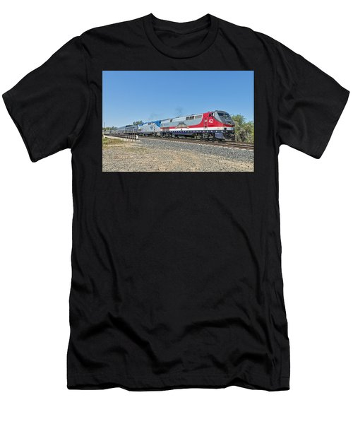 Amtrak 42  Veteran's Special Men's T-Shirt (Athletic Fit)