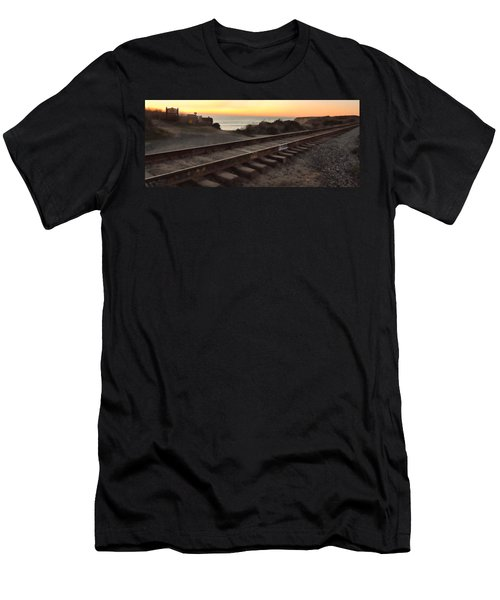 Amtrak On The Pacific Men's T-Shirt (Athletic Fit)