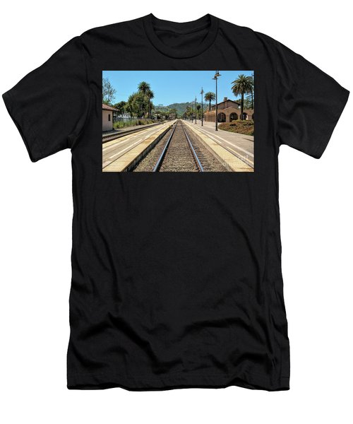 Amtrak Station, Santa Barbara, California Men's T-Shirt (Athletic Fit)