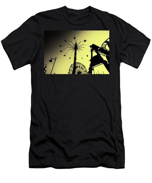 Amusements In Silhouette Men's T-Shirt (Athletic Fit)