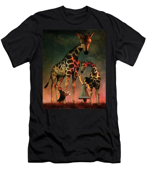Amy And Buddy With The Giraffes Men's T-Shirt (Athletic Fit)