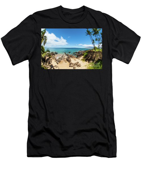 Men's T-Shirt (Slim Fit) featuring the photograph Amzing Beach In Hawaii Islands by Micah May