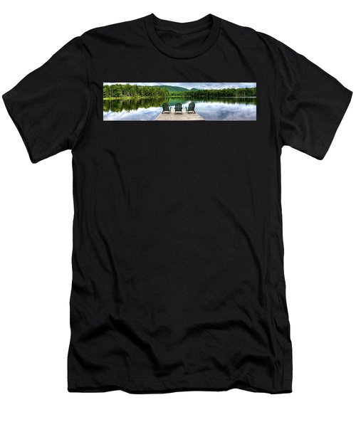 Men's T-Shirt (Slim Fit) featuring the photograph An Adirondack Panorama by David Patterson