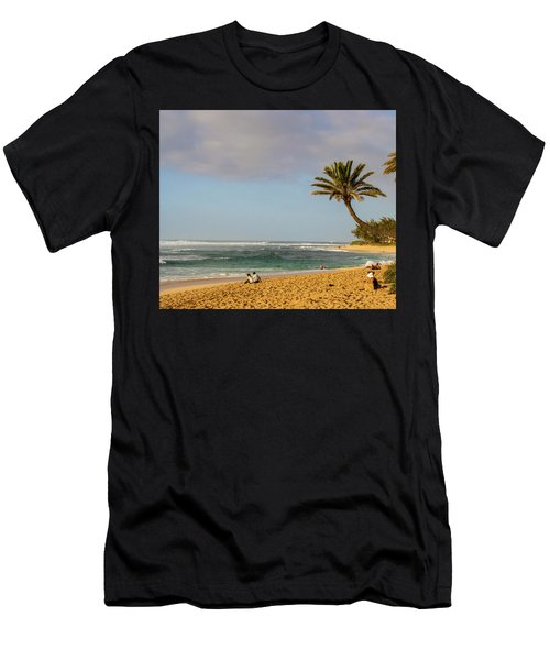An Afternoon At Sunset Beach Men's T-Shirt (Athletic Fit)