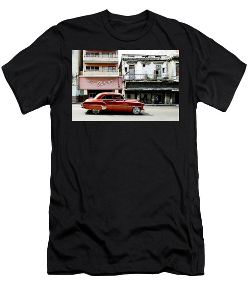 Men's T-Shirt (Athletic Fit) featuring the photograph An American In Havana by Denis Rouleau