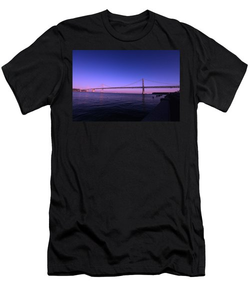 An Evening In San Francisco  Men's T-Shirt (Slim Fit) by Linda Edgecomb