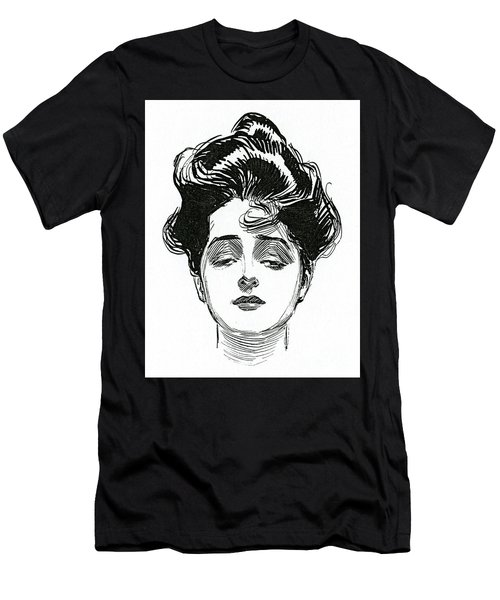 An Iconic Gibson Girl Portrait  Men's T-Shirt (Athletic Fit)