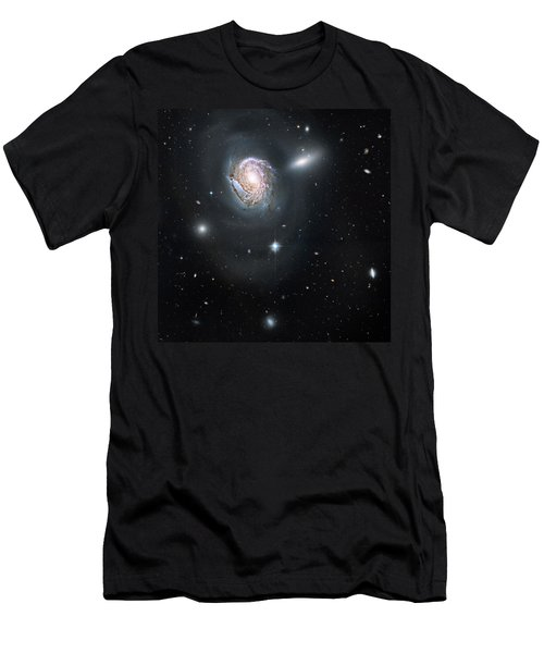 Men's T-Shirt (Slim Fit) featuring the photograph An Island Universe In The Coma Cluster by Nasa