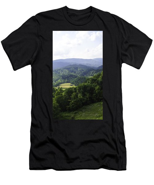 An Old Shack Hidden Away In The Blue Ridge Mountains Men's T-Shirt (Athletic Fit)