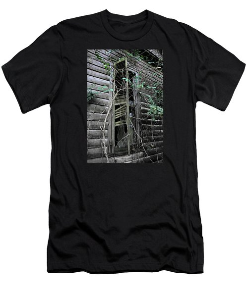 An Old Shuttered Window Men's T-Shirt (Athletic Fit)