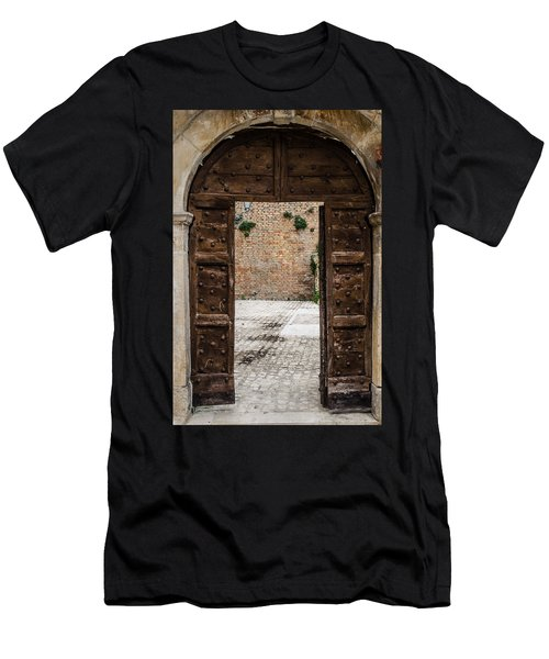 An Old Wooden Door 2 Men's T-Shirt (Athletic Fit)