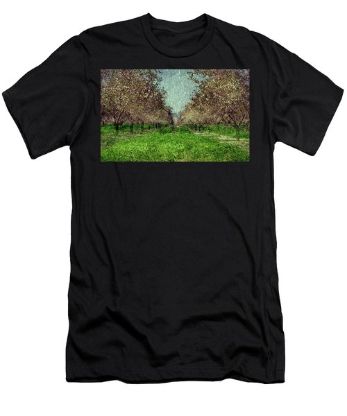 An Orchard In Blossom In The Eila Valley Men's T-Shirt (Athletic Fit)
