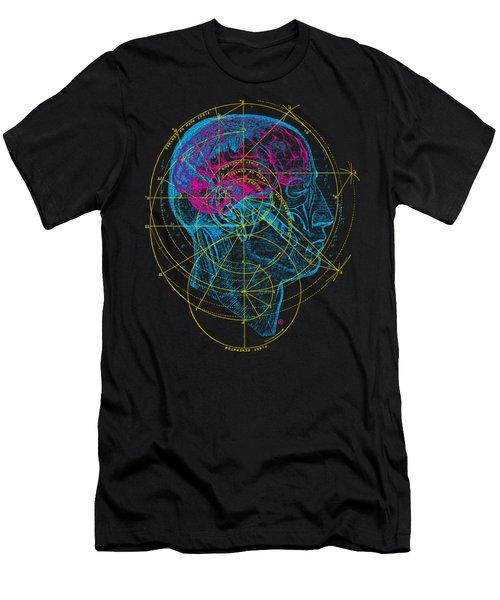 Anatomy Brain Men's T-Shirt (Athletic Fit)