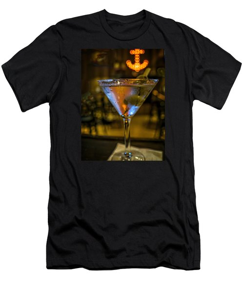 Anchor Your Martini Men's T-Shirt (Athletic Fit)