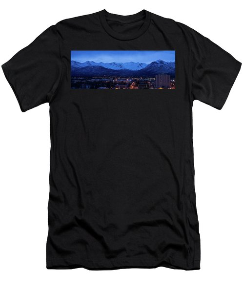 Anchorage At Sunrise Men's T-Shirt (Athletic Fit)