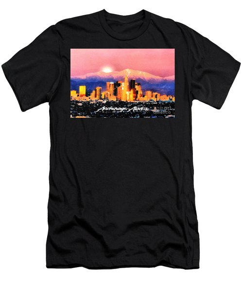 Men's T-Shirt (Slim Fit) featuring the digital art Anchorage - Bright-named by Elaine Ossipov