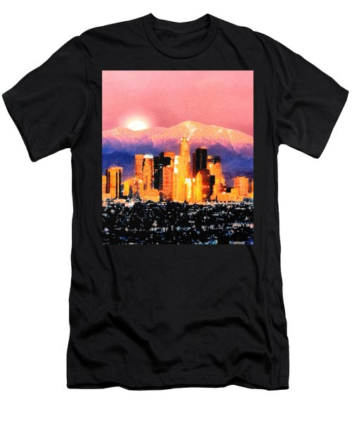 Men's T-Shirt (Slim Fit) featuring the digital art Anchorage by Elaine Ossipov