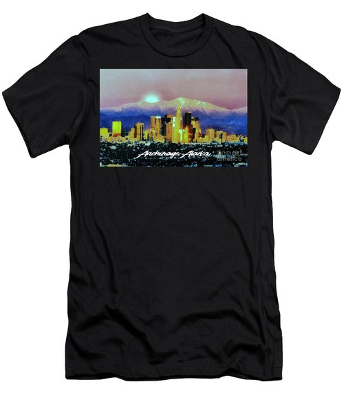 Men's T-Shirt (Slim Fit) featuring the digital art Anchorage-subdued by Elaine Ossipov