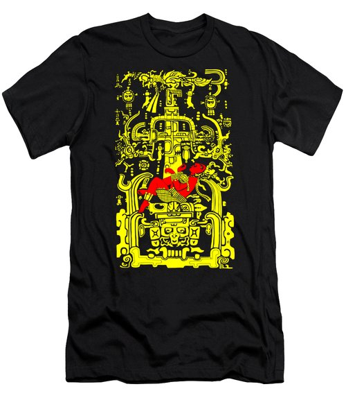 Ancient Astronaut Yellow And Red Version Men's T-Shirt (Athletic Fit)