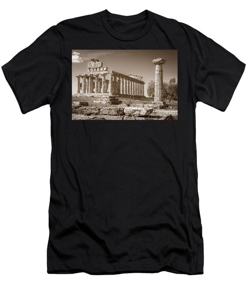Ancient Paestum Architecture Men's T-Shirt (Athletic Fit)