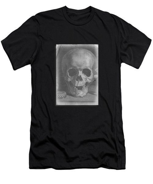 Men's T-Shirt (Athletic Fit) featuring the digital art Ancient Skull Tee by Edward Fielding