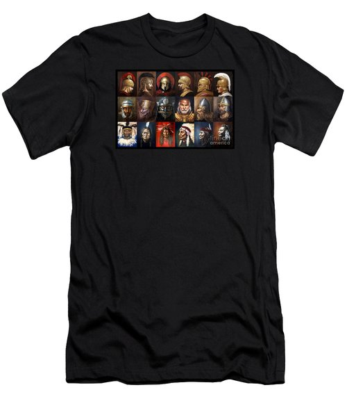 Ancient Warriors Men's T-Shirt (Slim Fit) by Arturas Slapsys