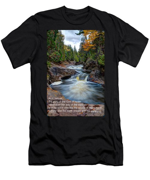 And His Voice Was Like The Sound Of Many Waters Men's T-Shirt (Athletic Fit)
