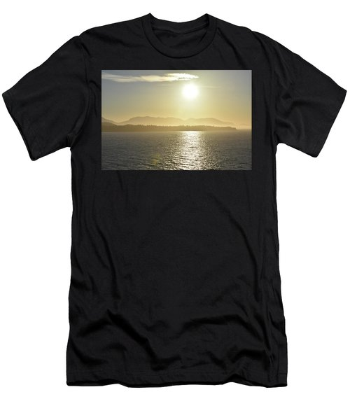 Men's T-Shirt (Athletic Fit) featuring the photograph And The Sun Goes Down by Melissa Lane