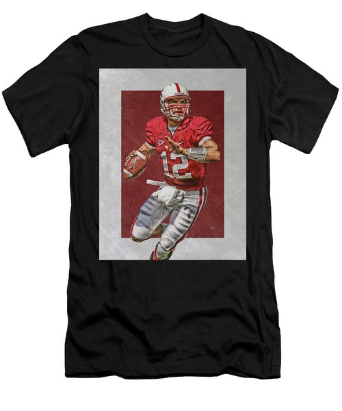 Andrew Luck Stanford Cardinals Art Men's T-Shirt (Athletic Fit)