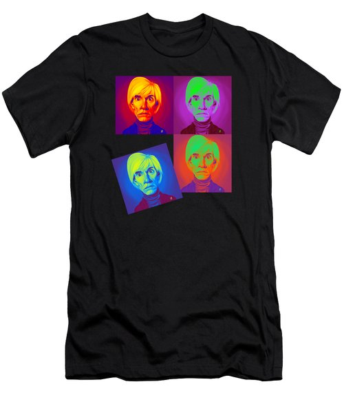 Andy Warhol On Andy Warhol Men's T-Shirt (Athletic Fit)