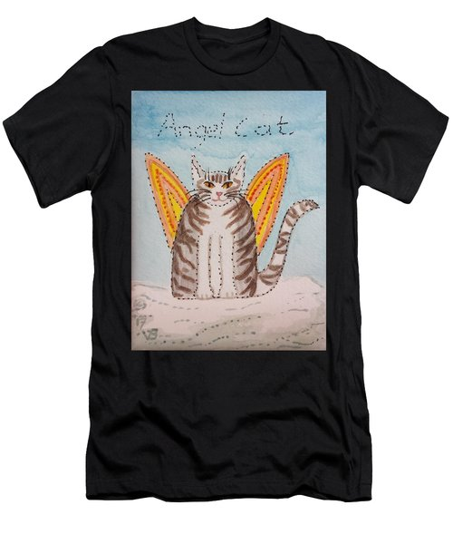 Angel Cat Men's T-Shirt (Athletic Fit)