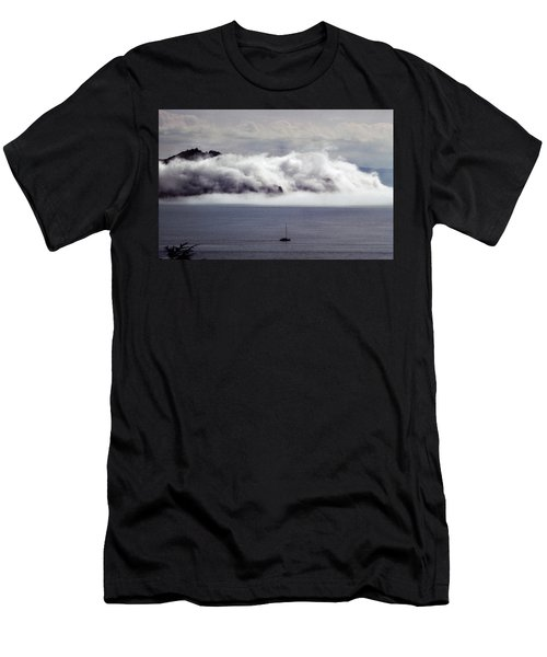 Men's T-Shirt (Athletic Fit) featuring the photograph Angel Island Fog by Frank DiMarco