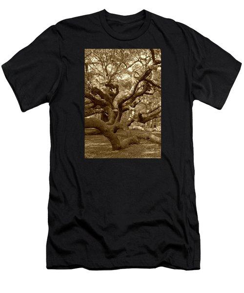 Angel Oak In Sepia Men's T-Shirt (Athletic Fit)
