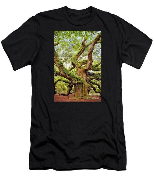Angel Oak Tree Men's T-Shirt (Athletic Fit)
