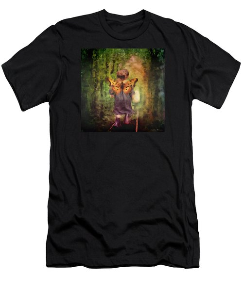 Men's T-Shirt (Slim Fit) featuring the digital art Angel Wings by Lisa Noneman