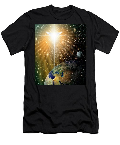 Angelic Star Over Bethlehem Men's T-Shirt (Athletic Fit)