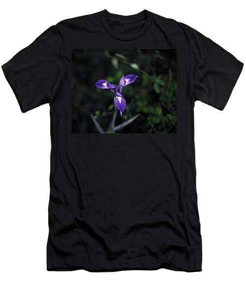 Men's T-Shirt (Slim Fit) featuring the photograph Angelpod Blue Flag by Sally Weigand