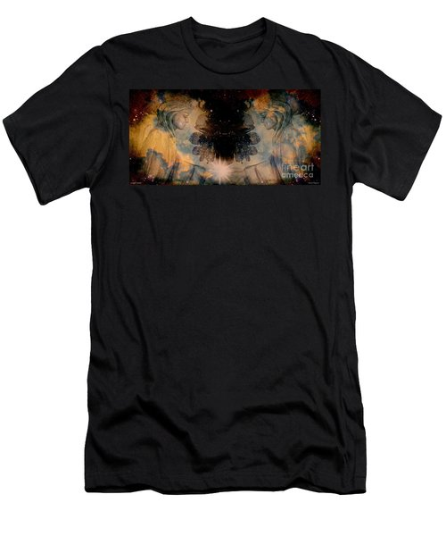 Angels Administering Spiritual Gifts Men's T-Shirt (Slim Fit) by Leanne Seymour