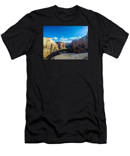 Angels Landing Men's T-Shirt (Slim Fit) by Alpha Wanderlust