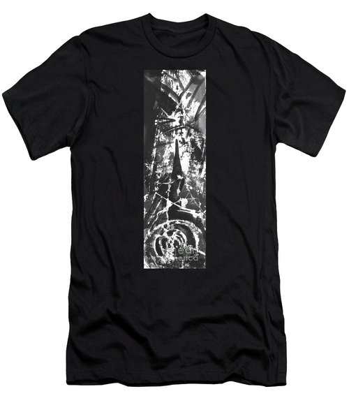 Men's T-Shirt (Slim Fit) featuring the painting Anger by Carol Rashawnna Williams