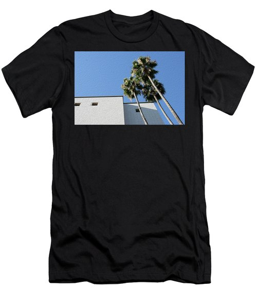 Angles And 3 Palm Tress Men's T-Shirt (Athletic Fit)
