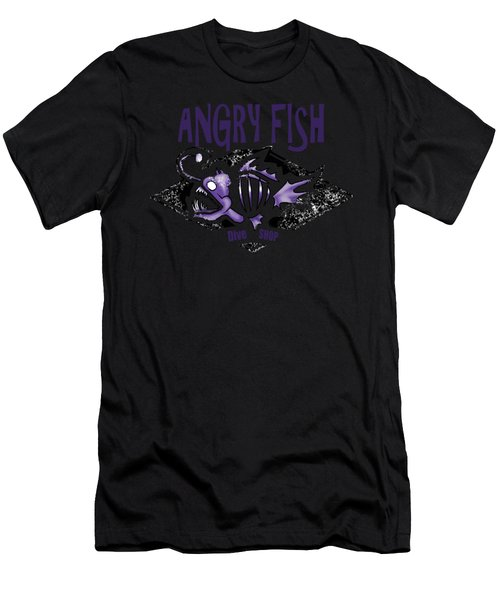 Angry Fish Men's T-Shirt (Athletic Fit)