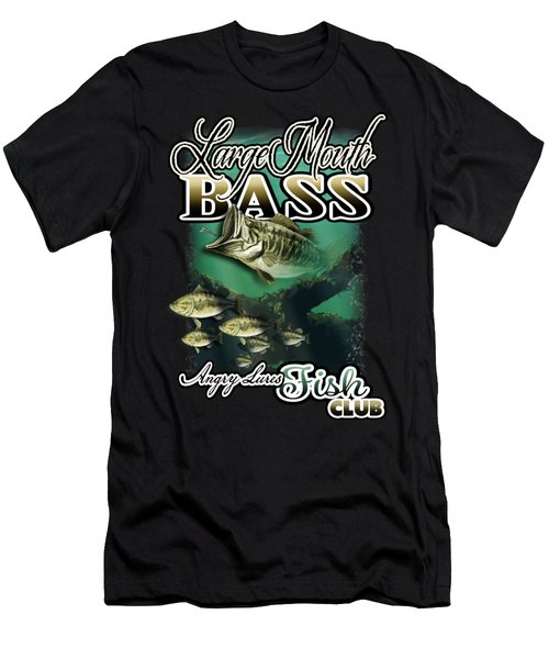 Angry Lures Fish Club Men's T-Shirt (Athletic Fit)